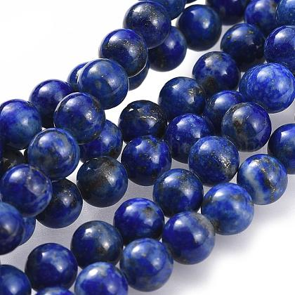 Naturales lapis lazuli de hebras de abaloriosG-G953-01-6mm-1