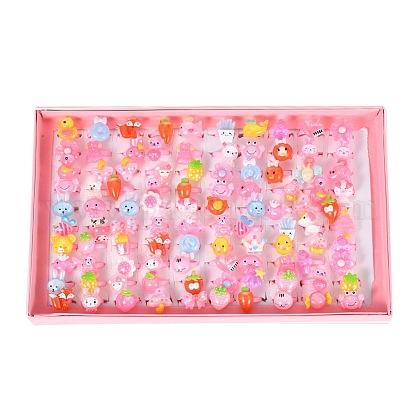Joyas infantiles lindas de día infantil de plástico para niñas.RJEW-S016-M2-1