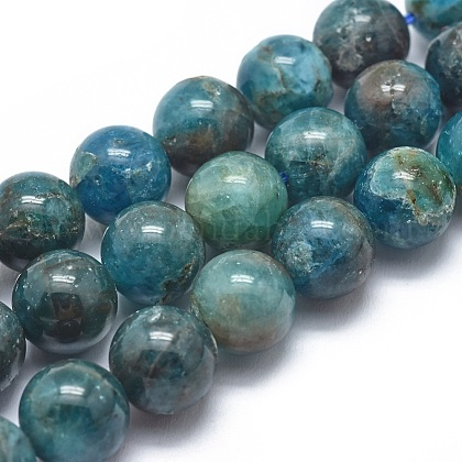 Natural Apatite Beads Strands G-I254-08D-1