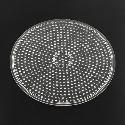 Plaques en plastique abc ronds plats utilisés pour les perles à repasser 5x5mm diyX-DIY-Q009-52-1