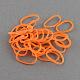 DIYの蛍光ネオンゴム織機バンド, オレンジレッド, 16x1ミリメートル、約16000個/ 1000 G