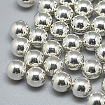 925 Sterling Silver Beads, No Hole/Undrilled, Round, Silver, 3mm
