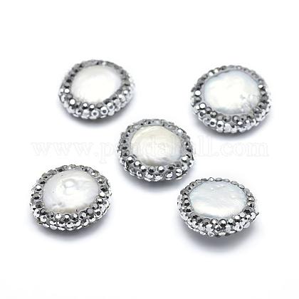 Perlas naturales abalorios de agua dulce cultivadasRB-A062-017-1