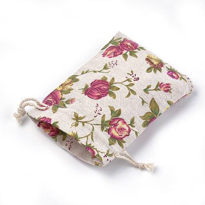 ポリコットン(ポリエステルコットン)パッキングポーチ巾着袋ABAG-S004-04D-10x14-1