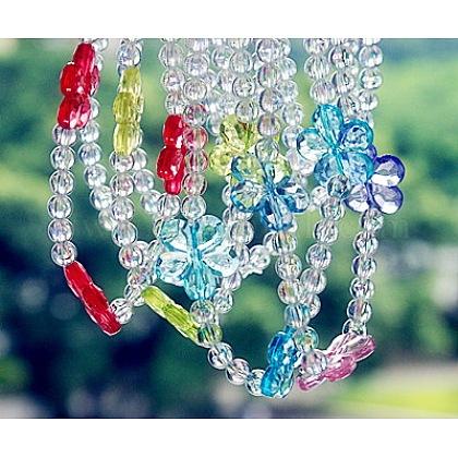 Collares de acrílico transparenteX-NJEW-JN00162-1