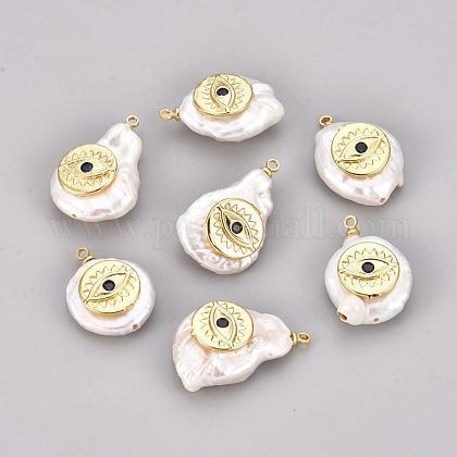 Colgantes naturales de perlas cultivadas de agua dulcePEAR-L025-15G-1
