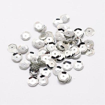 Plastic Paillette BeadsPVC-A001-6mm-08-1