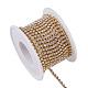 Cadenas de strass Diamante de imitación de bronce, cadenas de la taza del Rhinestone, con carrete, crudo (sin chapar), cristal, 2.6mm, aproximamente 10 yardas / rodillo