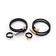 304 brazaletes de acero inoxidable y juegos de joyas con anillos de dedoSJEW-L137-01-1