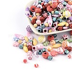 Acrylic Beads Mix, Vary in colors and shapes, about 4~19mm wide, 4~42mm long, hole: 1~5mm