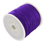 編み込みナイロン糸, 暗い紫, 0.8mm;約100ヤード/ロール(300フィート/ロール)
