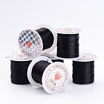 Flat Elastic Crystal String, Elastic Beading Thread, for Stretch Bracelet Making Fit Beading Jewelry Cord, Black, 0.8mm, 10m/roll