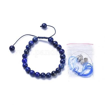 Nylon ajustable pulseras trenzadas cuerdaBJEW-JB04212-01-1