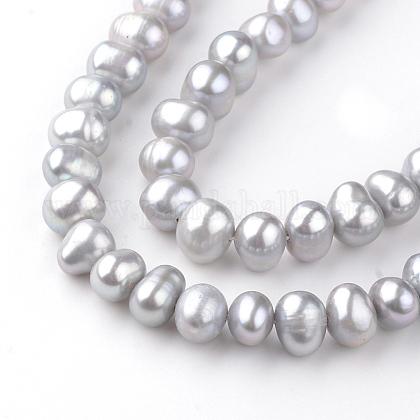 Hebras de perlas de agua dulce cultivadas naturalesPEAR-R064-32-1