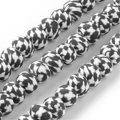 Handmade Polymer Clay Bead Strands CLAY-Q231-06-1