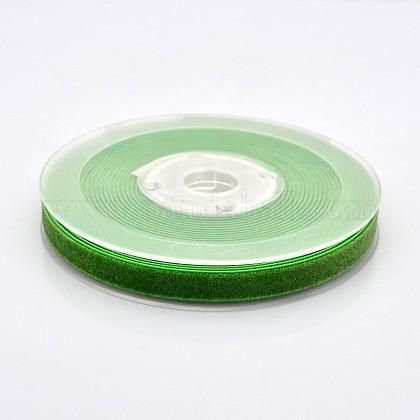 Ruban de velours en polyester pour emballage de cadeaux et décoration de festivalSRIB-M001-10mm-580-1