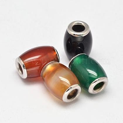 Baril teint agate naturelle perles européennesG-M260-04-1