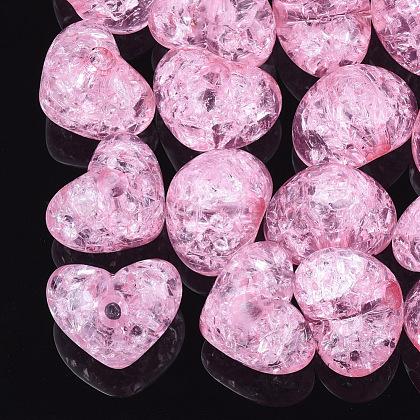 Abalorios de acrílico transparentes crepitarTACR-S148-04A-1
