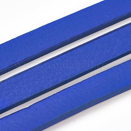 Cordones de cuero de imitación planaLC-E019-01E-1