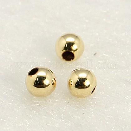 Шарики из желтого золотаKK-G156-3mm-1-1