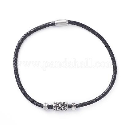 Men's Beaded NecklacesNJEW-JN02616-1