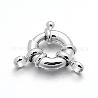 Cierres de anillo de resorte de latón chapado en rackX-KK-D399-C-P-NF-1