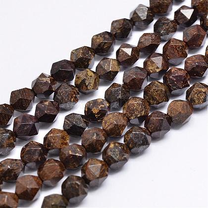 Natural Bronzite Beads StrandsG-N0313-07-8mm-1