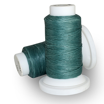Waxed Polyester Cord, Teal, 0.8mm; about 50m/roll