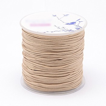 Nylon Threads, Wheat, 1mm; about 109.3yards/roll(100m/roll)