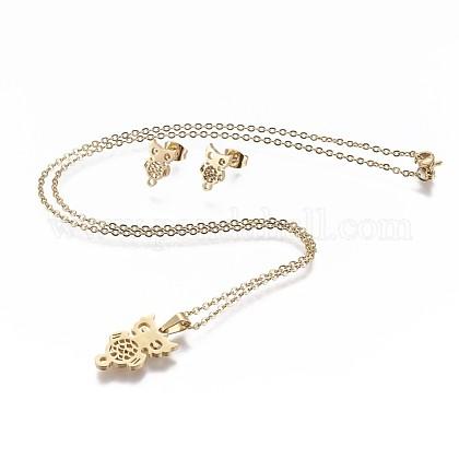 Conjuntos de joyería de 304 acero inoxidableSJEW-P159-20G-1