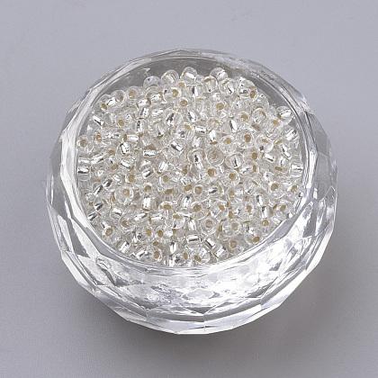 Fgb®12/0透明な銀の裏地が付いた丸いガラスシードビーズSEED-A022-F12-34-1