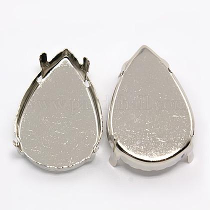 Платина латунные сеттинги горный хрусталь коготьX-KK-G246-20x30mm-P-1