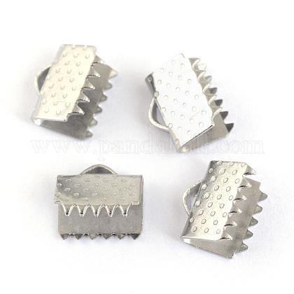 304ステンレス鋼リボンカシメエンドパーツSTAS-S047-057-1