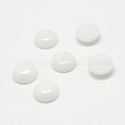 Natural White Jade Gemstone CabochonsG-T020-8mm-04-1