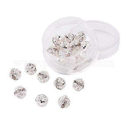 Abalorios de Diamante de imitación de latónRB-JP0001-8mm-01S-1