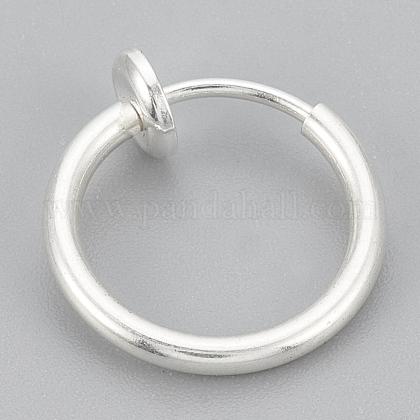 316 Stainless Steel Retractable Clip-on Hoop EarringsSTAS-S102-02S-60mm-1