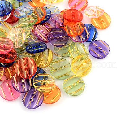 Botones de acrílico transparenteX-BUTT-Q031-M-1