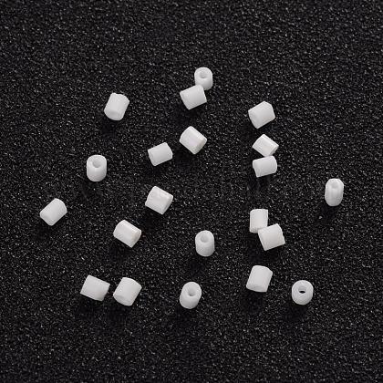 Dos abalorios de la semilla de cristal talladoCSDB41-1