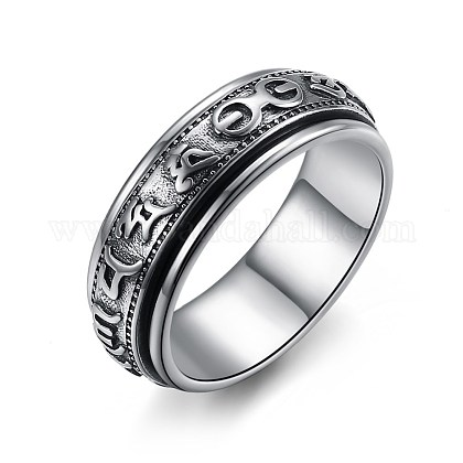 Nueva moda tailandesa anillos de plata 925 esterlinaRJEW-BB33707-8-1