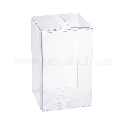 Transparent Plastic PVC Box Gift Packaging CON-WH0060-02C-1