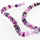 Natural Gemstone Agate Round Bead Strands G-E231-06-1