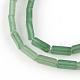 Vert aventurine pierres précieuses brins de perles naturelles cuboïdeG-R299-10-1