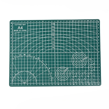 PVC Cutting Mat Pad, for Desktop Fine Manual Work Leather Craft Sewing DIY Punch Board, Teal, 30x22x0.2cm