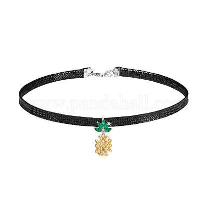 Collares gargantilla con cordón de cuero shegrace®JN940A-1