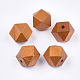 Cuentas de madera natural pintadaWOOD-Q040-017B-07-1