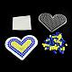Сердце поделок Melty бисер hama бисер бисер комплектов: hama бисер бусиныX-DIY-R040-31-1