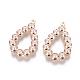 Plastic Imitation Pearl Beads PendantsIFIN-F156-04LG-1