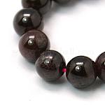 Gemstone Beads Strands, Natural Garnet, Round, DarkRed, 4mm, Hole: 0.5mm; about 46pcs/strand, 8.5