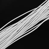 Cuerda elástica, con el exterior de la fibra y el caucho en el interior, blanco, 2 mm; aproximamente 100 m / paquete