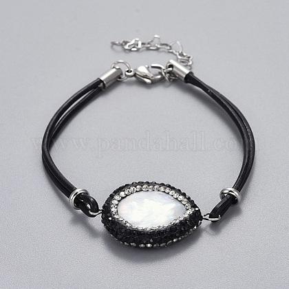 Cowhide Leather Cord BraceletsBJEW-JB04290-02-1